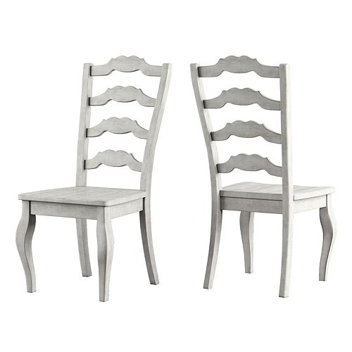 HomeVance Wood Ladderback Dining Chair 2-piece Set