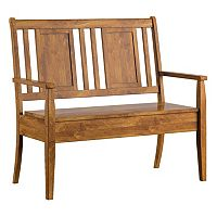 HomeVance Acorn Creek Wood Storage Loveseat