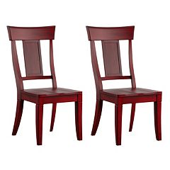 HomeVance Acorn Creek Wood Dining Chair 2 pc Set