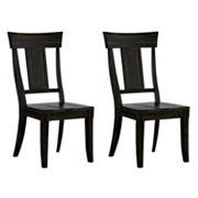 HomeVance Acorn Creek Wood Dining Chair 2 pc Set