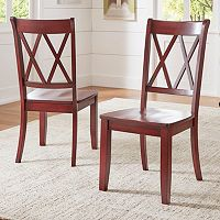 HomeVance Acorn Creek X-Back Dining Chair 2-piece Set