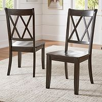 HomeVance Acorn Creek X-Back Dining Chair 2 pc Set