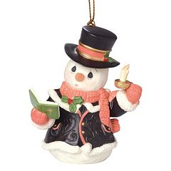 Precious Moments O Come, All Ye Faithful Caroling Snowman Christmas Ornament