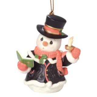 Precious Moments O Come, All Ye Faithful Caroling Snowman Christmas Ornament