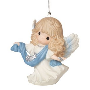 Precious Moments Guide Us To Thy Perfect Light Angel Christmas Ornament