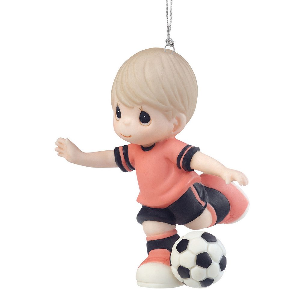 Precious Moments Get A Kick Out Of You Soccer Boy Christmas Ornament