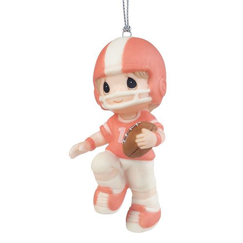 Precious Moments You're My First Pick Football Boy Christmas Ornament