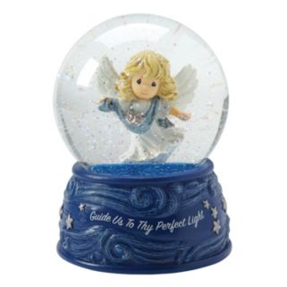 "Precious Moments ""Guide Us To Thy Perfect Light"" Angel Musical Christmas Snow Globe"