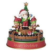 Precious Moments Santa's Workshop Deluxe Musical Christmas Figurine