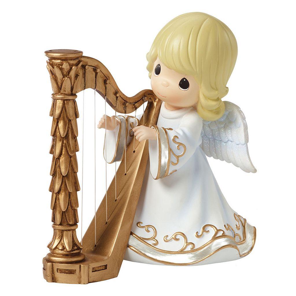 Precious Moments Angel Playing Harp Musical Figurine