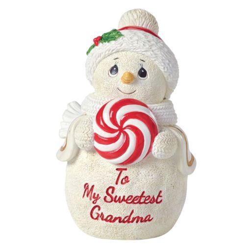 "Precious Moments ""To My Sweetest Grandma"" Snowman Christmas Figurine"