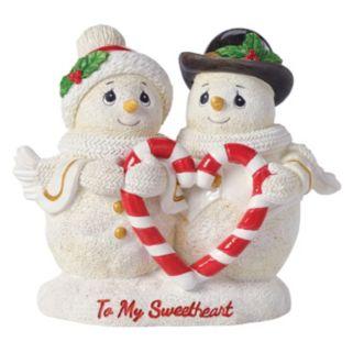 "Precious Moments ""To My Sweetheart"" Snow Couple Christmas Figurine"