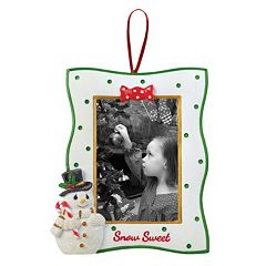 Precious Moments 2' x 3' Snowman Photo Holder Christmas Ornament