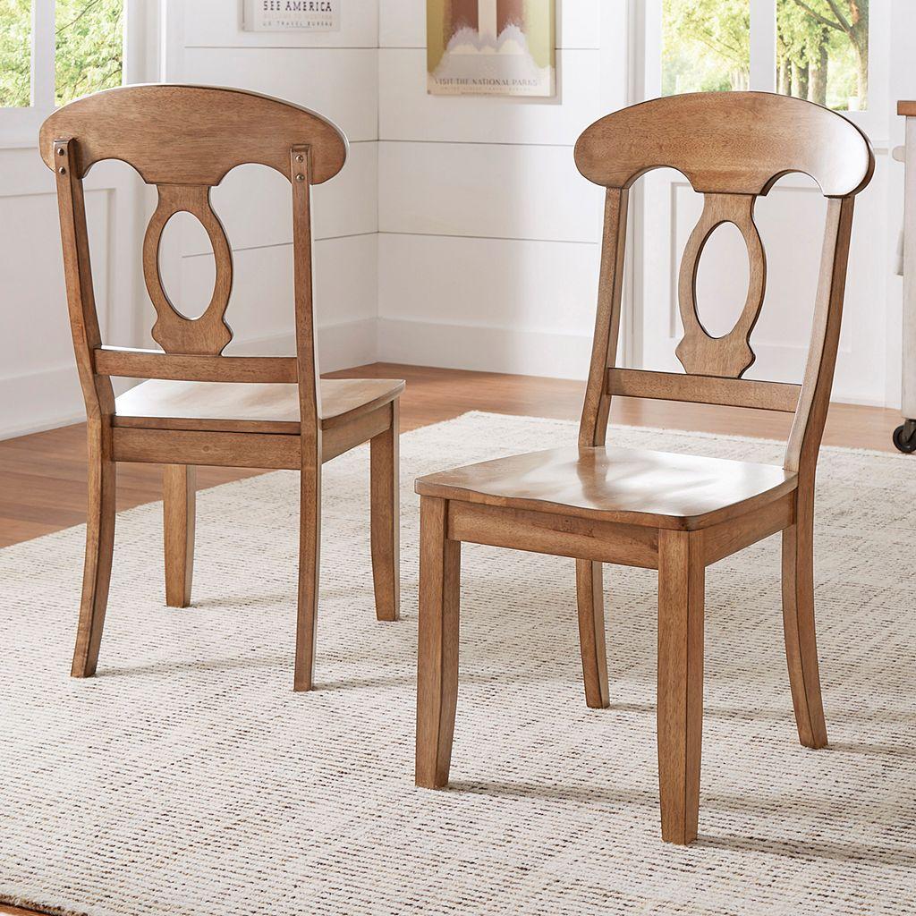 HomeVance Acorn Creek Napoleon Back Dining Chair 2-piece Set