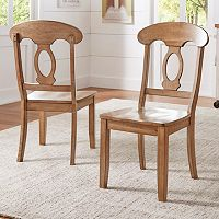 HomeVance Acorn Creek Napoleon Back Dining Chair 2-piece Set