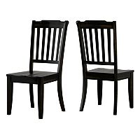 HomeVance Wood Dining Chair 2 pc Set