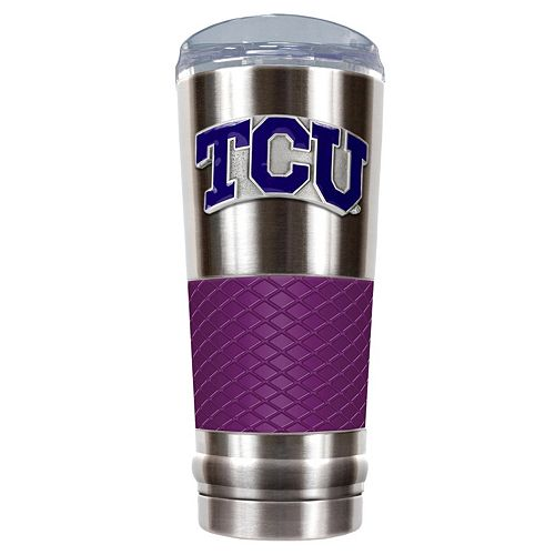 TCU Horned Frogs 24-Ounce Draft Stainless Steel Tumbler
