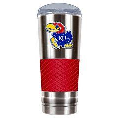 Kansas Jayhawks 24-Ounce Draft Stainless Steel Tumbler