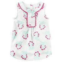 Toddler Girl Carter's Pom-Pom Fringe Trim Floral Tunic