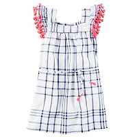 Toddler Girl Carter's Tassel Trim Plaid Dress