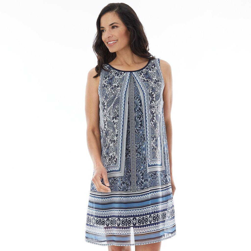 Women's AB Studio Printed Popover Dress