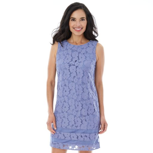 Women's AB Studio Floral Lace Shift Dress