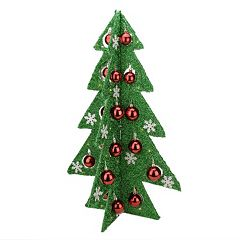 Light-Up Tinsel Christmas Table Decor