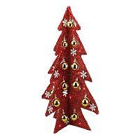 Light-Up Tinsel Christmas Table Decor