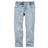 Toddler Girl Carter's Light Wash Denim Jogger Pants