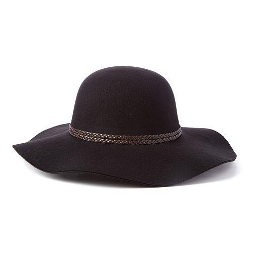 Scala Braided Trim Ultrafelt Floppy Hat