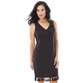 Women's AB Studio Tassel Fringe Tank Dress