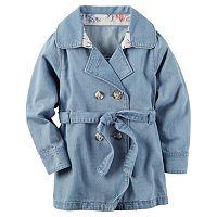 Toddler Girl Carter's Denim Trench Coat
