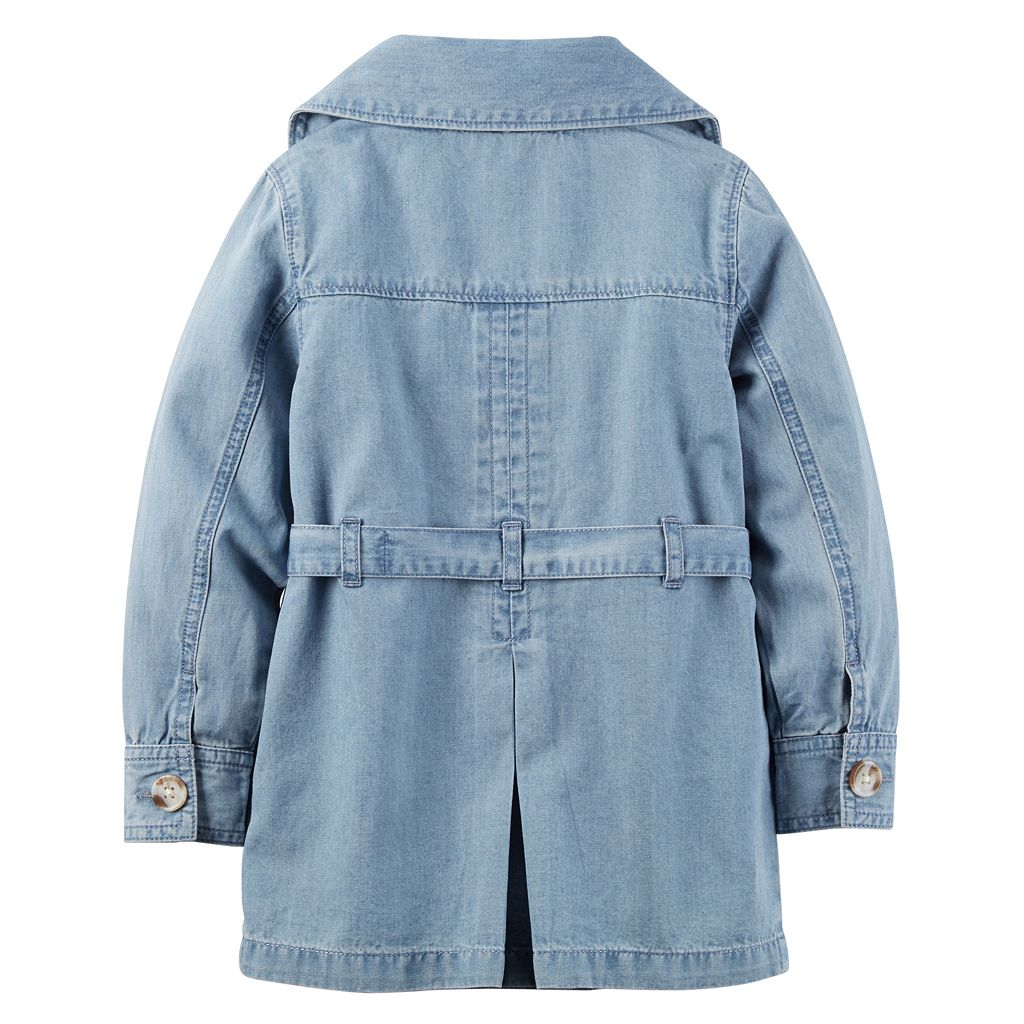 Toddler Girl Carter's Denim Trench Coat