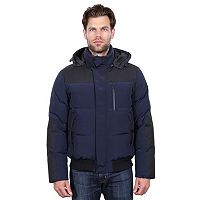 Men's Tahari Elements Mixed Media Hooded Parka