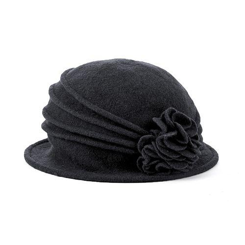 6fd421912005cc Scala Knit Wool Flower Cloche Hat