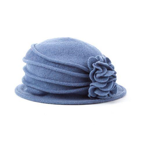 Scala Knit Wool Flower Cloche Hat