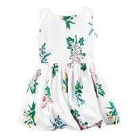 Toddler Girl Carter's White Floral Sateen Dress
