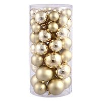Shiny & Matte Shatterproof Ball Christmas Ornament 50 pc Set