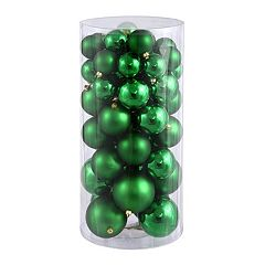 Shiny & Matte Shatterproof Ball Christmas Ornament 50-piece Set
