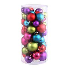 Shiny & Matte Shatterproof Ball Christmas Ornament 50-piece Set