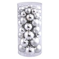 Shiny & Matte Shatterproof Ball Christmas Ornament 50 pc Set