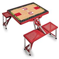 Picnic Time Atlanta Hawks Portable Folding Picnic Table