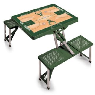 Picnic Time Milwaukee Bucks Portable Folding Picnic Table