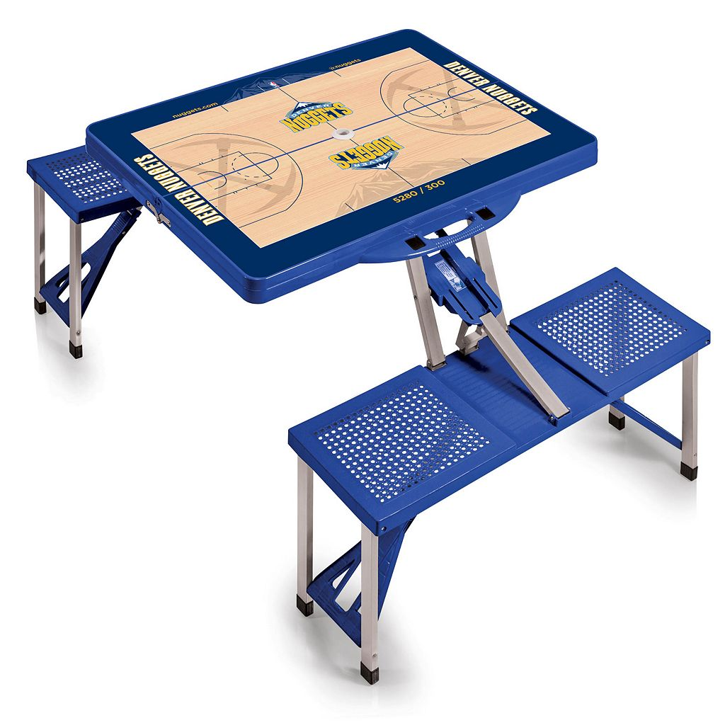 Picnic Time Denver Nuggets Portable Folding Picnic Table