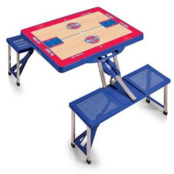 Picnic Time Detroit Pistons Portable Folding Picnic Table