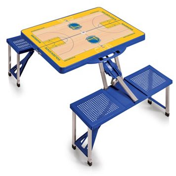 Picnic Time Golden State Warriors Portable Folding Picnic Table