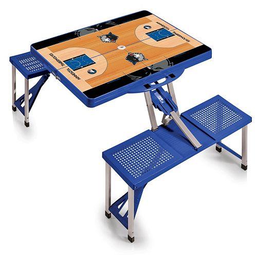 Picnic Time Minnesota Timberwolves Portable Folding Picnic Table