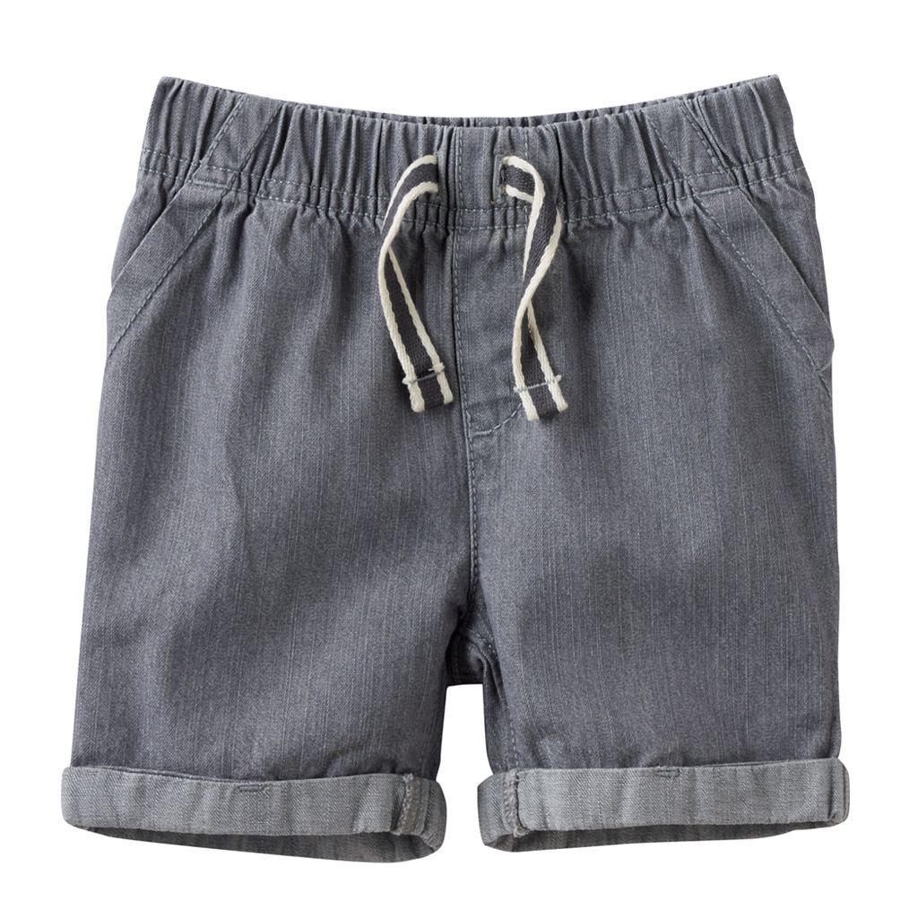 Baby Boy Jumping Beans® Cuffed Denim Shorts