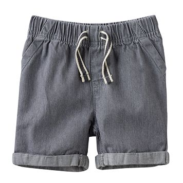 Baby Boy Jumping Beans® Cuffed Denim Shorts