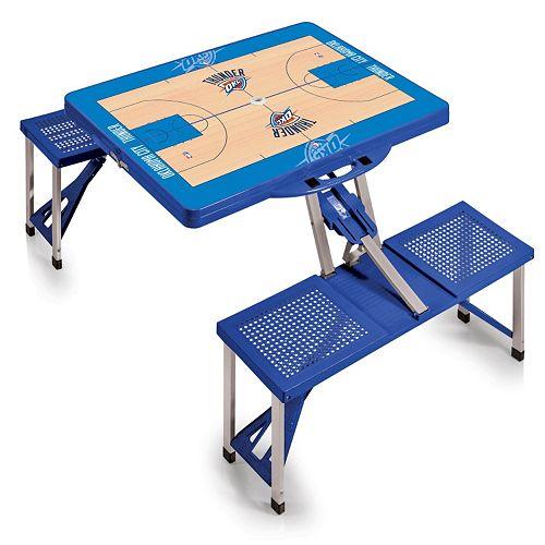 Picnic Time Oklahoma City Thunder Portable Folding Picnic Table